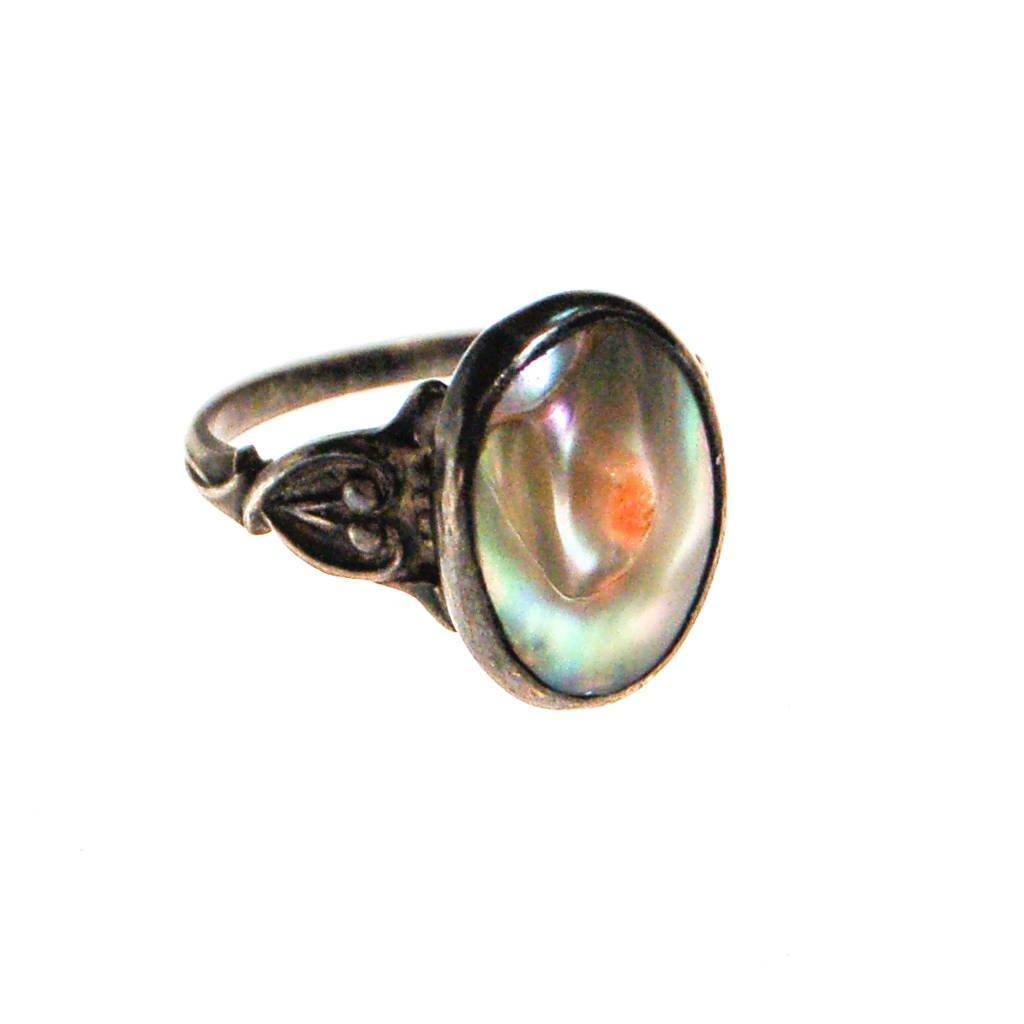 Art Nouveau Blister Pearl Ring, ring - Vintage Meet Modern