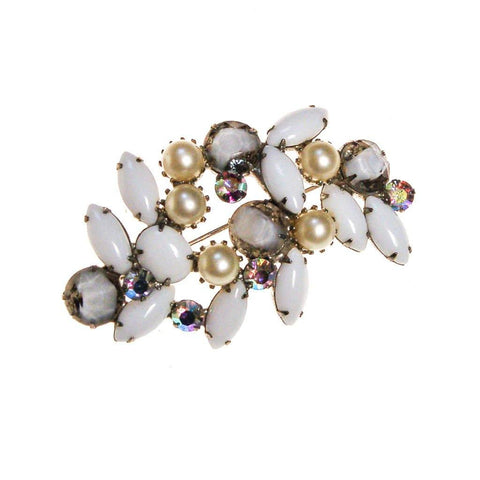 Art Deco Diamante Rhinestone Brooch, Pendant
