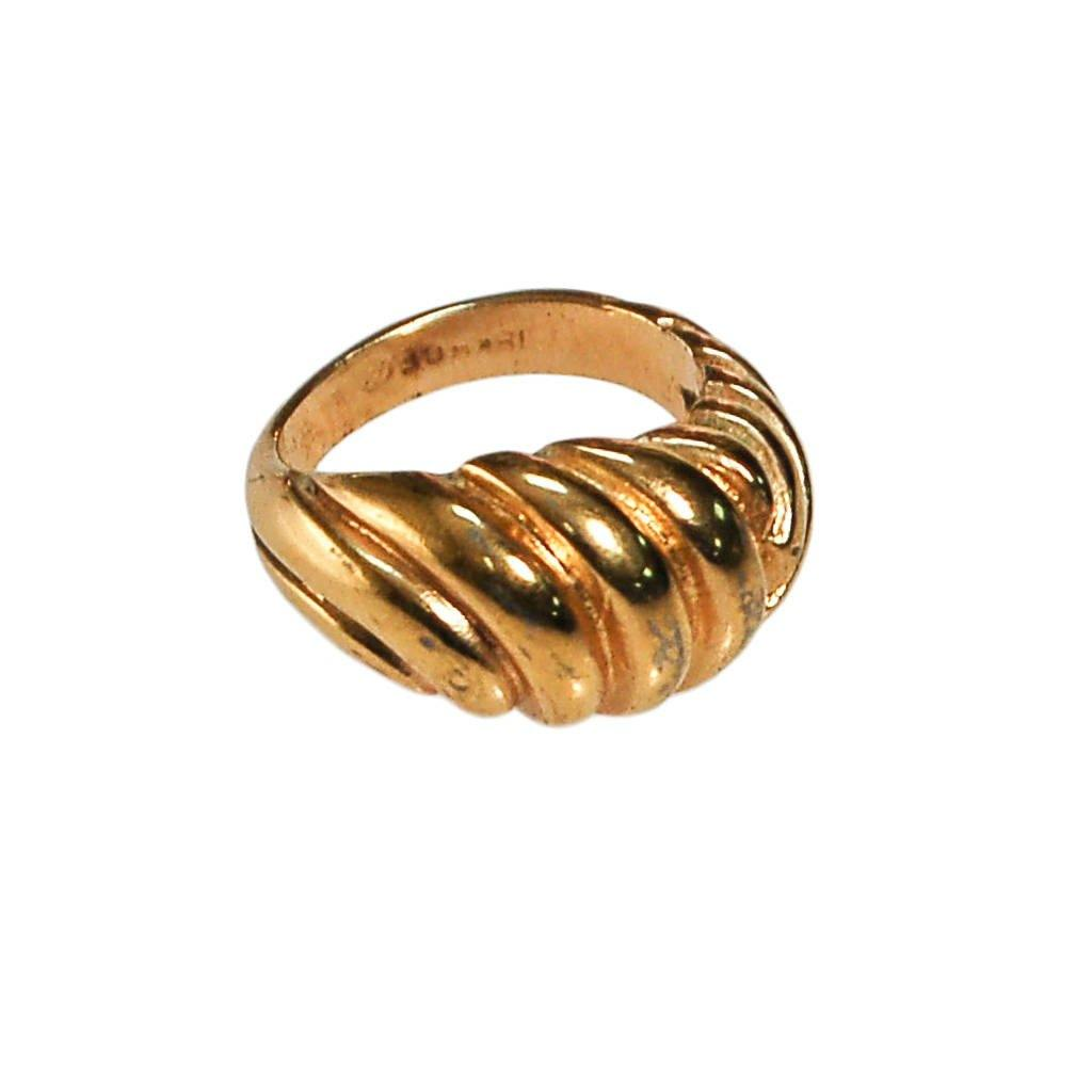 Gold Cable Style Dome Statement Ring