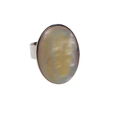 Mother of Pearl Statement Ring by One of a Kind - Vintage Meet Modern Vintage Jewelry - Chicago, Illinois - #oldhollywoodglamour #vintagemeetmodern #designervintage #jewelrybox #antiquejewelry #vintagejewelry