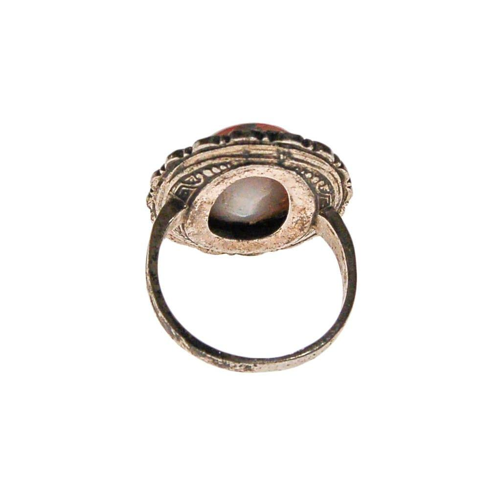 Sterling Silver and Fire Opal Statement Ring