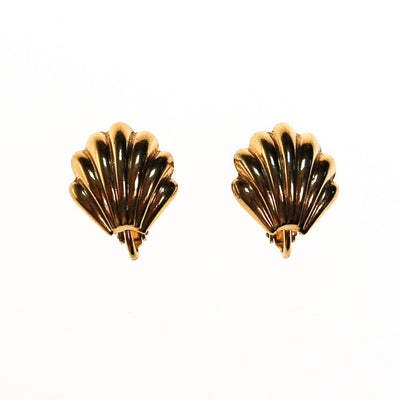 Napier Gold Shell Earrings by Napier - Vintage Meet Modern - Chicago, Illinois