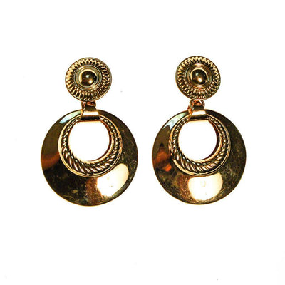 Monet Gold Tone Door Knocker Earrings by Monet - Vintage Meet Modern - Chicago, Illinois