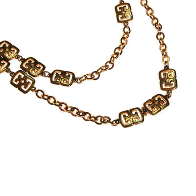 Crown Trifari Gold Station Necklace by crown trifari - Vintage Meet Modern Vintage Jewelry - Chicago, Illinois - #oldhollywoodglamour #vintagemeetmodern #designervintage #jewelrybox #antiquejewelry #vintagejewelry