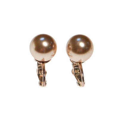 Champagne Pearl Earrings by 1980s - Vintage Meet Modern - Chicago, Illinois