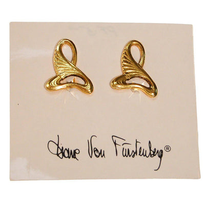 Diane von Furstenberg Egyptian Revival Gold Earrings by Diane von Furstenberg - Vintage Meet Modern Vintage Jewelry - Chicago, Illinois - #oldhollywoodglamour #vintagemeetmodern #designervintage #jewelrybox #antiquejewelry #vintagejewelry