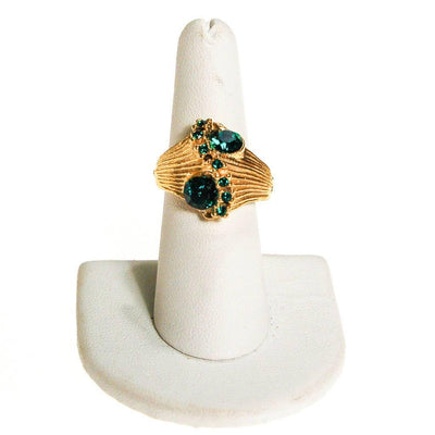 1960s Emerald Green Rhinestone Statement Ring by 1960s - Vintage Meet Modern Vintage Jewelry - Chicago, Illinois - #oldhollywoodglamour #vintagemeetmodern #designervintage #jewelrybox #antiquejewelry #vintagejewelry