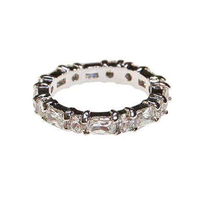Diamonique Cubic Zirconia Eternity Ring by 1990s - Vintage Meet Modern - Chicago, Illinois
