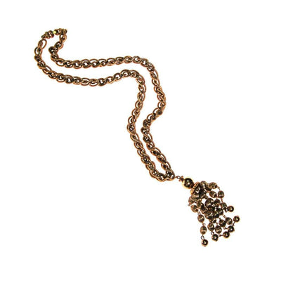 Monet Gold Beaded Tassel Necklace by Monet - Vintage Meet Modern Vintage Jewelry - Chicago, Illinois - #oldhollywoodglamour #vintagemeetmodern #designervintage #jewelrybox #antiquejewelry #vintagejewelry