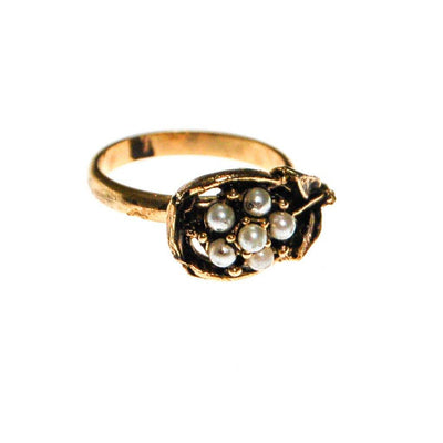 Pearl Daisy Flower Ring by Mid Century Modern - Vintage Meet Modern Vintage Jewelry - Chicago, Illinois - #oldhollywoodglamour #vintagemeetmodern #designervintage #jewelrybox #antiquejewelry #vintagejewelry