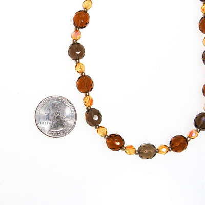 Vintage Joan Rivers Smokey and Citrine Crystal Beaded Necklace by Joan Rivers - Vintage Meet Modern - Chicago, Illinois