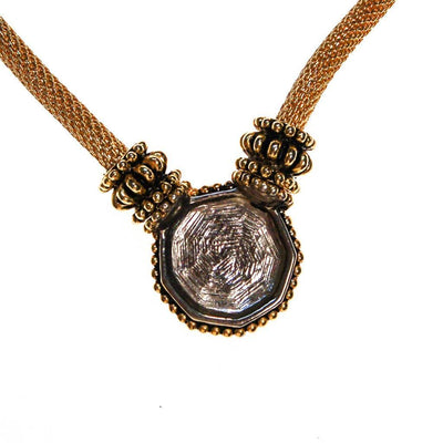 Vintage Gold French Coin Necklace by 1980s - Vintage Meet Modern - Chicago, Illinois