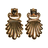 1970s Gold Statement Earrings
