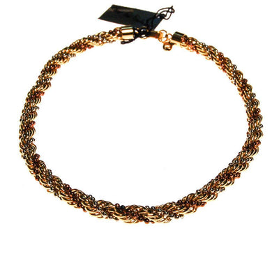 Diane von Furstenberg Gold Silver and Copper Thick Rope Chain Necklace by Diane von Furstenberg - Vintage Meet Modern Vintage Jewelry - Chicago, Illinois - #oldhollywoodglamour #vintagemeetmodern #designervintage #jewelrybox #antiquejewelry #vintagejewelry