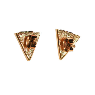 Diane von Furstenberg Gold and Silver Triangle Earring by Diane von Furstenberg - Vintage Meet Modern Vintage Jewelry - Chicago, Illinois - #oldhollywoodglamour #vintagemeetmodern #designervintage #jewelrybox #antiquejewelry #vintagejewelry