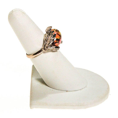 Dragons Breath Fire Opal Statement Ring by 1960s - Vintage Meet Modern Vintage Jewelry - Chicago, Illinois - #oldhollywoodglamour #vintagemeetmodern #designervintage #jewelrybox #antiquejewelry #vintagejewelry