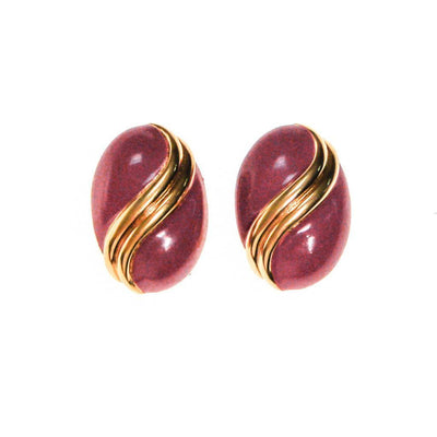 Vintage St John Couture Pink and Gold Earrings by St John - Vintage Meet Modern Vintage Jewelry - Chicago, Illinois - #oldhollywoodglamour #vintagemeetmodern #designervintage #jewelrybox #antiquejewelry #vintagejewelry