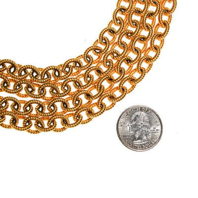 Givenchy Couture Gold Multi Chain Necklace by Givenchy - Vintage Meet Modern Vintage Jewelry - Chicago, Illinois - #oldhollywoodglamour #vintagemeetmodern #designervintage #jewelrybox #antiquejewelry #vintagejewelry