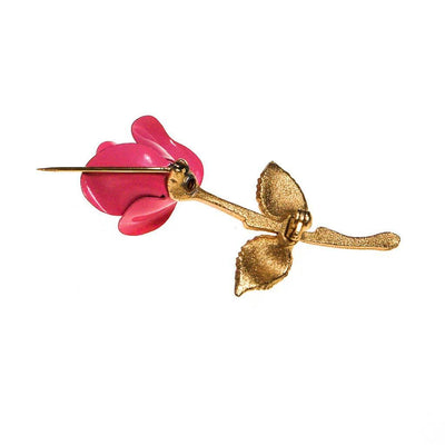 Pink Rose Brooch by 1960s - Vintage Meet Modern - Chicago, Illinois
