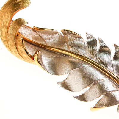 Marvella Silver and Gold Tone Leaf Brooch by Marvella - Vintage Meet Modern Vintage Jewelry - Chicago, Illinois - #oldhollywoodglamour #vintagemeetmodern #designervintage #jewelrybox #antiquejewelry #vintagejewelry