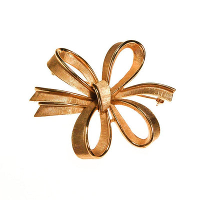 Crown Trfari Large Gold Bow Brooch by Crown Trifari - Vintage Meet Modern - Chicago, Illinois