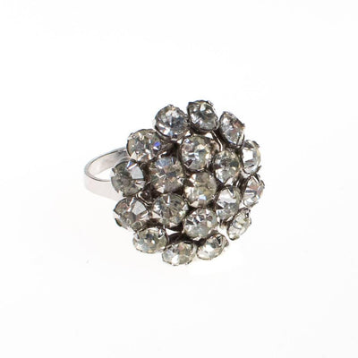 Vintage Art Deco Diamante Cluster Cocktail Statement Ring by 1940s - Vintage Meet Modern Vintage Jewelry - Chicago, Illinois - #oldhollywoodglamour #vintagemeetmodern #designervintage #jewelrybox #antiquejewelry #vintagejewelry