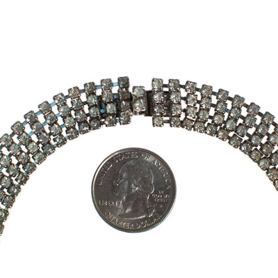 Vintage Rhinestone Choker Necklace by 1950s - Vintage Meet Modern - Chicago, Illinois