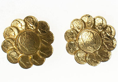 Vintage RJ Graziano Roman Gold Coin Earrings by RJ Graziano - Vintage Meet Modern - Chicago, Illinois