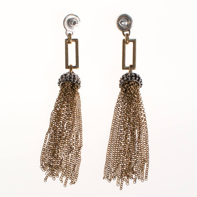 Gold Chain Tassel Earrings by Gold Chain Tassel - Vintage Meet Modern Vintage Jewelry - Chicago, Illinois - #oldhollywoodglamour #vintagemeetmodern #designervintage #jewelrybox #antiquejewelry #vintagejewelry