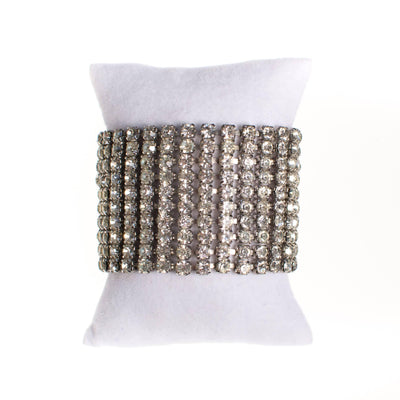 Vintage Wide Rhinestone Bracelet, Art Deco Style by Art Deco - Vintage Meet Modern - Chicago, Illinois