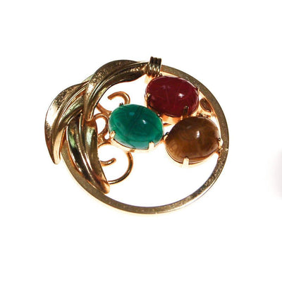Vintage Scarab Gemstone Scatter Pins, Carved Carnelian, Jade, Tigers Eye, Gold Filled by 1960s - Vintage Meet Modern - Chicago, Illinois