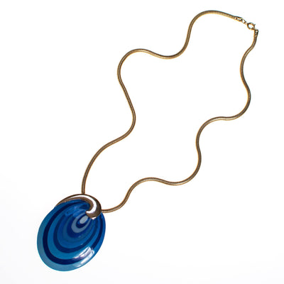 Vintage Eisenberg Blue Swirl Enamel Pendant Necklace, Artist Series, 1960s by 1960s - Vintage Meet Modern - Chicago, Illinois