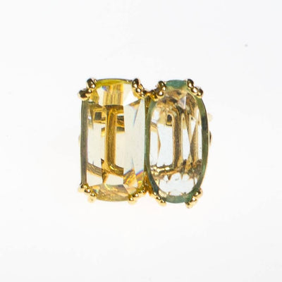 Vintage Double Citrine Crystal Statement Ring by 1980s - Vintage Meet Modern - Chicago, Illinois