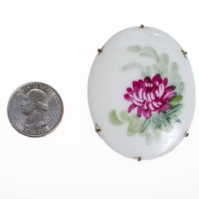 Hand Painted Purple Flower Limoges Brooch, Pin by Limoges - Vintage Meet Modern - Chicago, Illinois
