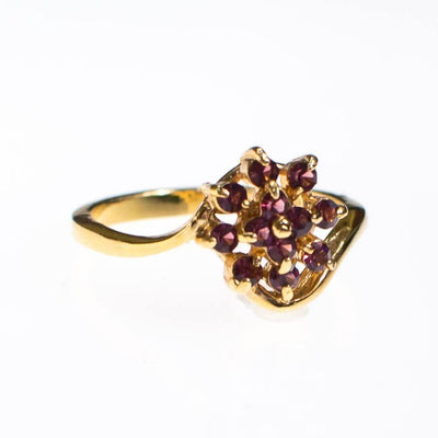Amethyst Gold Plated Flower Ring by Amethyst - Vintage Meet Modern - Chicago, Illinois