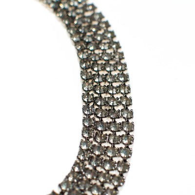 Vintage Rhinestone Choker Necklace by 1950s - Vintage Meet Modern Vintage Jewelry - Chicago, Illinois - #oldhollywoodglamour #vintagemeetmodern #designervintage #jewelrybox #antiquejewelry #vintagejewelry