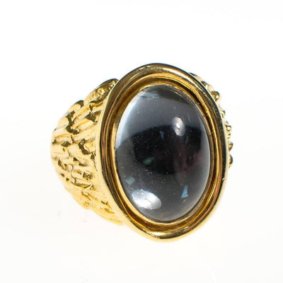 Vintage Hobe Moonstone Gold Statement Ring by Hobe - Vintage Meet Modern - Chicago, Illinois
