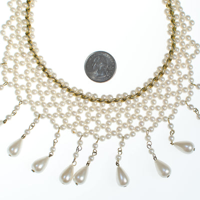 Vintage Pearl Bib Necklace by 1950s - Vintage Meet Modern - Chicago, Illinois