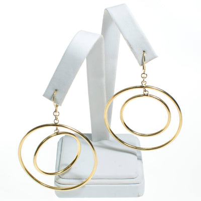 Vintage Kenneth Jay Lane Double Hoop Earrings by Kenneth Jay Lane - Vintage Meet Modern Vintage Jewelry - Chicago, Illinois - #oldhollywoodglamour #vintagemeetmodern #designervintage #jewelrybox #antiquejewelry #vintagejewelry