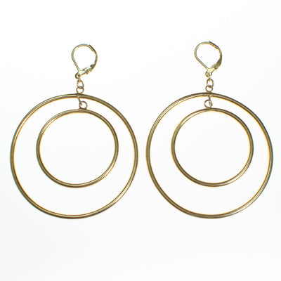Vintage Kenneth Jay Lane Double Hoop Earrings by Kenneth Jay Lane - Vintage Meet Modern - Chicago, Illinois