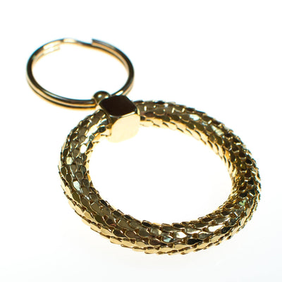 Vintage 1980s Whiting and Davis Gold Mesh Key Chain