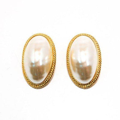 Givenchy Mabe Peral Earrings, Oval, Oversized, Couture, Designer, Runway, Clip-on by Givenchy - Vintage Meet Modern Vintage Jewelry - Chicago, Illinois - #oldhollywoodglamour #vintagemeetmodern #designervintage #jewelrybox #antiquejewelry #vintagejewelry