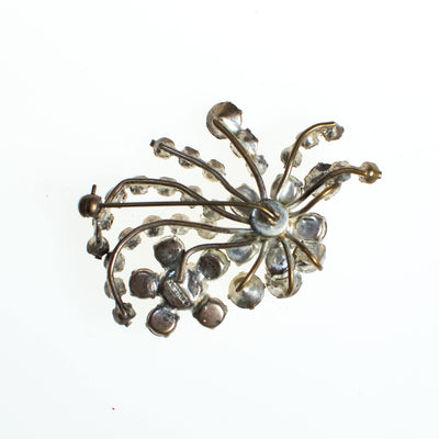 Vintage Made in Austria Diamante Art Deco Brooch, Diamante crystals, Silver Tone Setting, Brooches and Pins