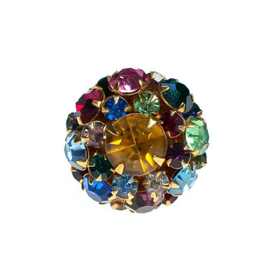 Vintage Judy Lee Rainbow Rhinestone Statement Ring by Judy Lee - Vintage Meet Modern - Chicago, Illinois