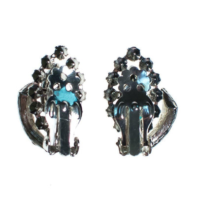 Vintage Art Deco Marquise and Brilliant Rhinestone Statement Earrings by 1950s - Vintage Meet Modern - Chicago, Illinois