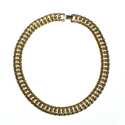 Vintage Classic Gold Link Collar Necklace by 1980s - Vintage Meet Modern - Chicago, Illinois