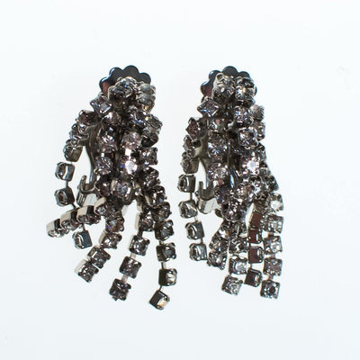 Vintage Art Deco Fringed Rhinestone Tassel Earrings, Clip On by Art Deco - Vintage Meet Modern Vintage Jewelry - Chicago, Illinois - #oldhollywoodglamour #vintagemeetmodern #designervintage #jewelrybox #antiquejewelry #vintagejewelry