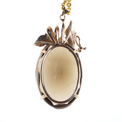 Vintage Cadoro Art Nouveau Inspired Huge Smokey Topaz Pendant Necklace by Cadoro - Vintage Meet Modern - Chicago, Illinois