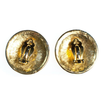 Vintage Anne Klein Couture Gold Lion Huge Round Statement Earrings by Anne Klein Couture - Vintage Meet Modern Vintage Jewelry - Chicago, Illinois - #oldhollywoodglamour #vintagemeetmodern #designervintage #jewelrybox #antiquejewelry #vintagejewelry