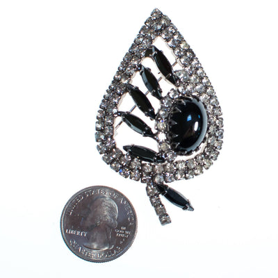 Vintage Juliana Hematite and Diamante Rhinestone Leaf Brooch, 1960s by Juliana - Vintage Meet Modern - Chicago, Illinois
